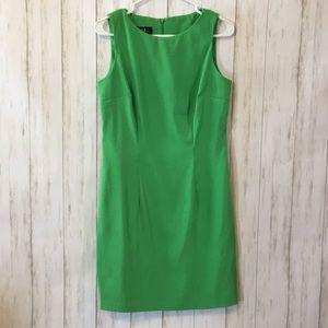 Bright green shirt dress
